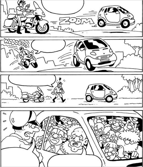 Printable Comic Strip Template