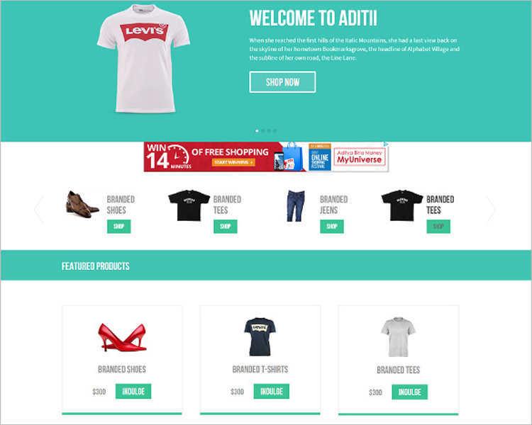 responsive-flat-e-commerce-html5-template