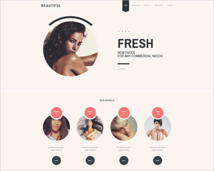 responsive-model-scout-website-templates