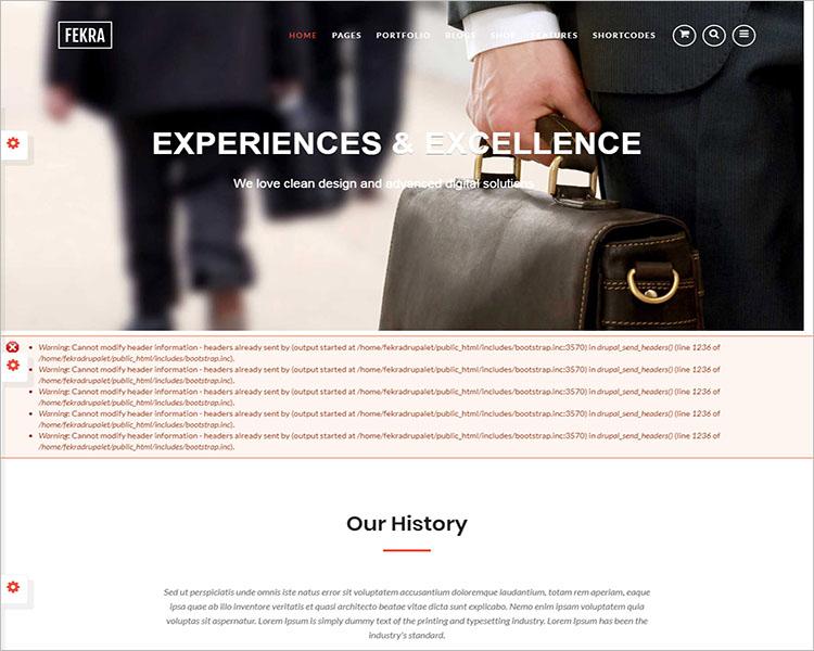 Responsive Multi Page HTML5 Drupal Theme