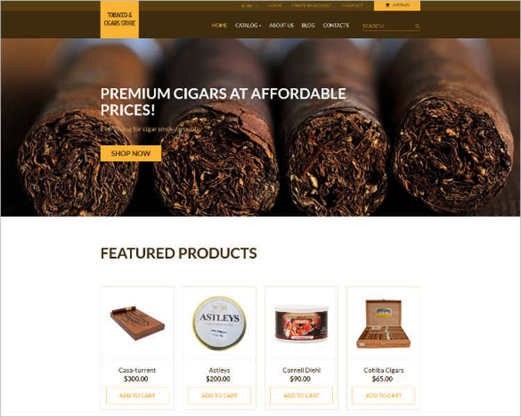 responsive-tobacco-store-php-website-templates