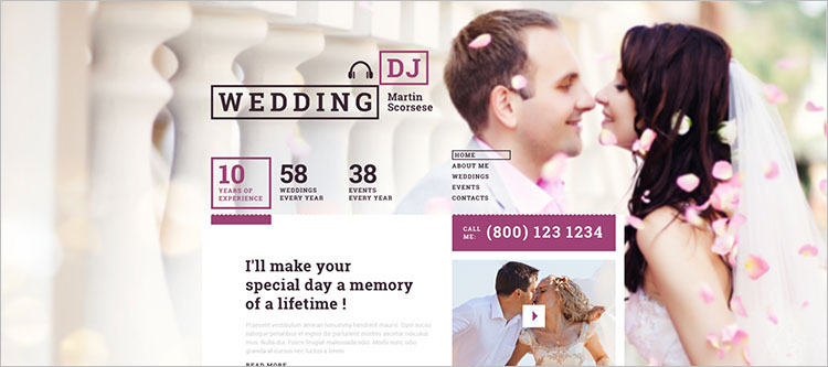 responsive-wedding-event-website-dj-theme-templates