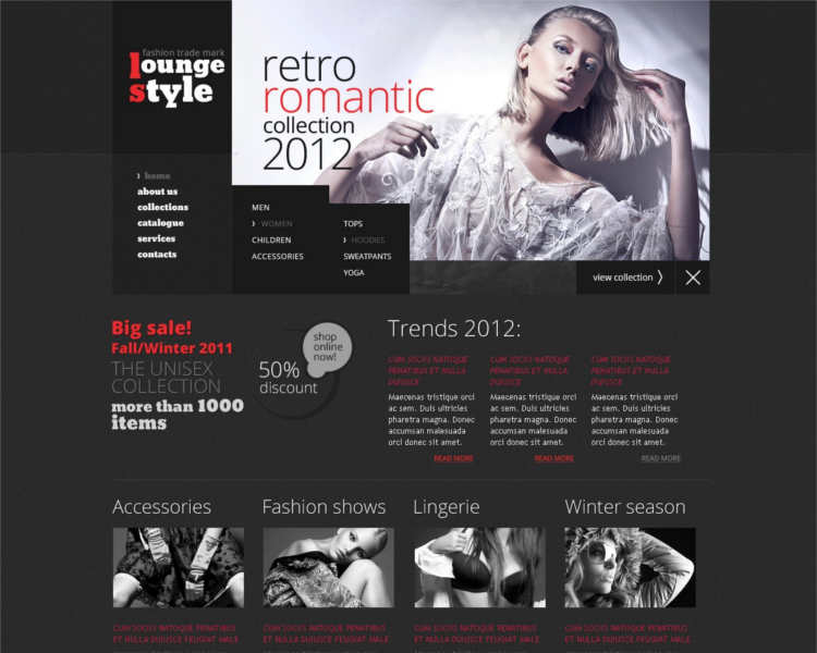 retro-fashion-design-website-templates