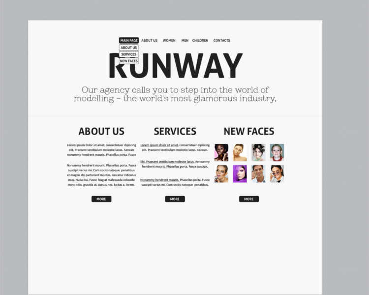 runway-model-agency-website-templates