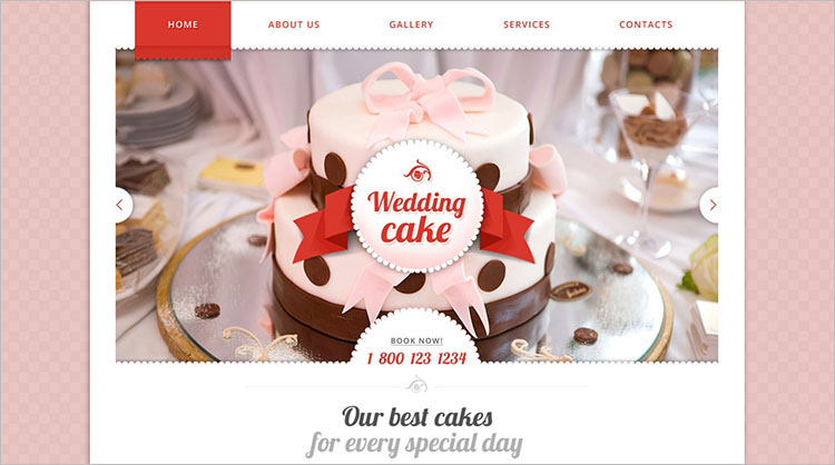 sample-cake-website-theme-templates