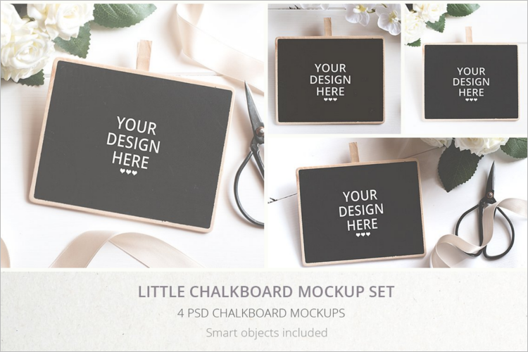 Smart Chalkboard Mockup Design
