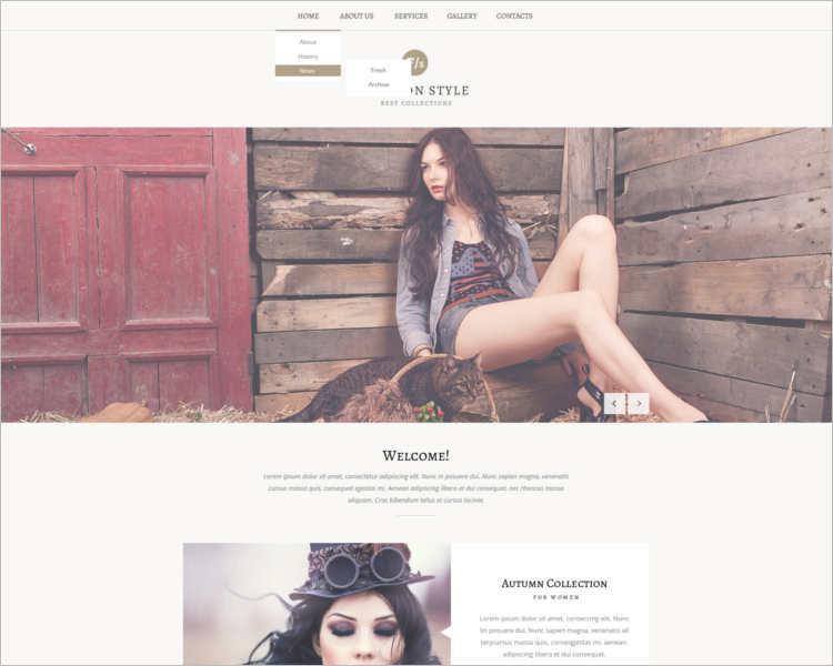 stylist-fashion-design-website-templates