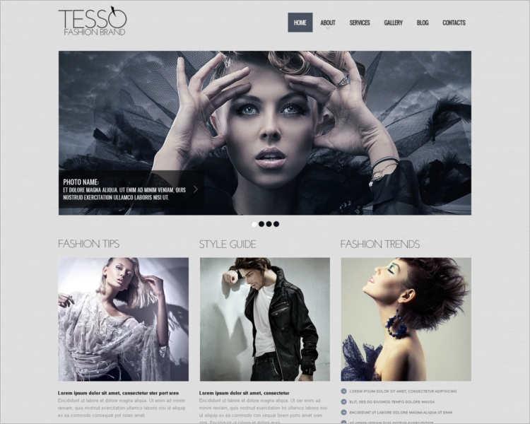 tesso-fashion-design-website-templates
