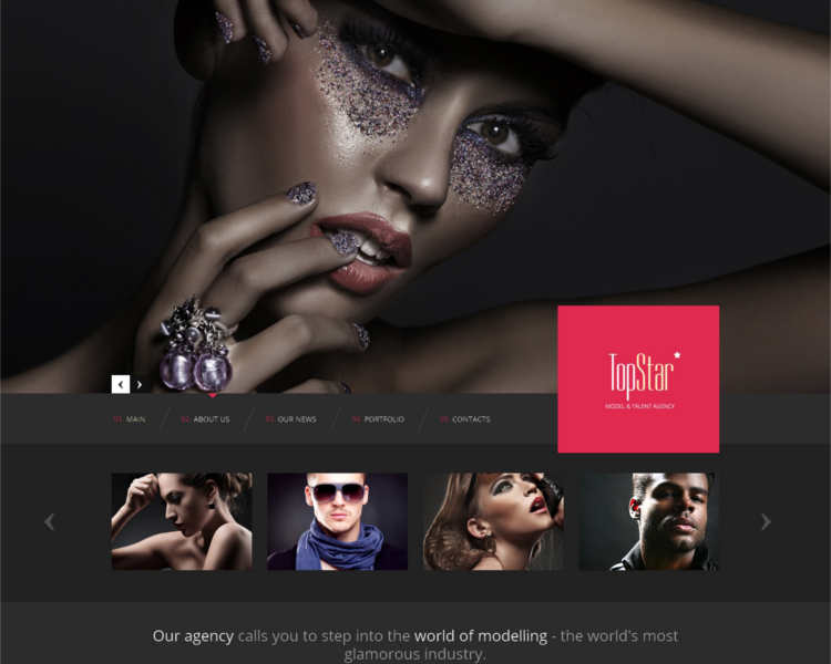 top-model-agency-website-templates
