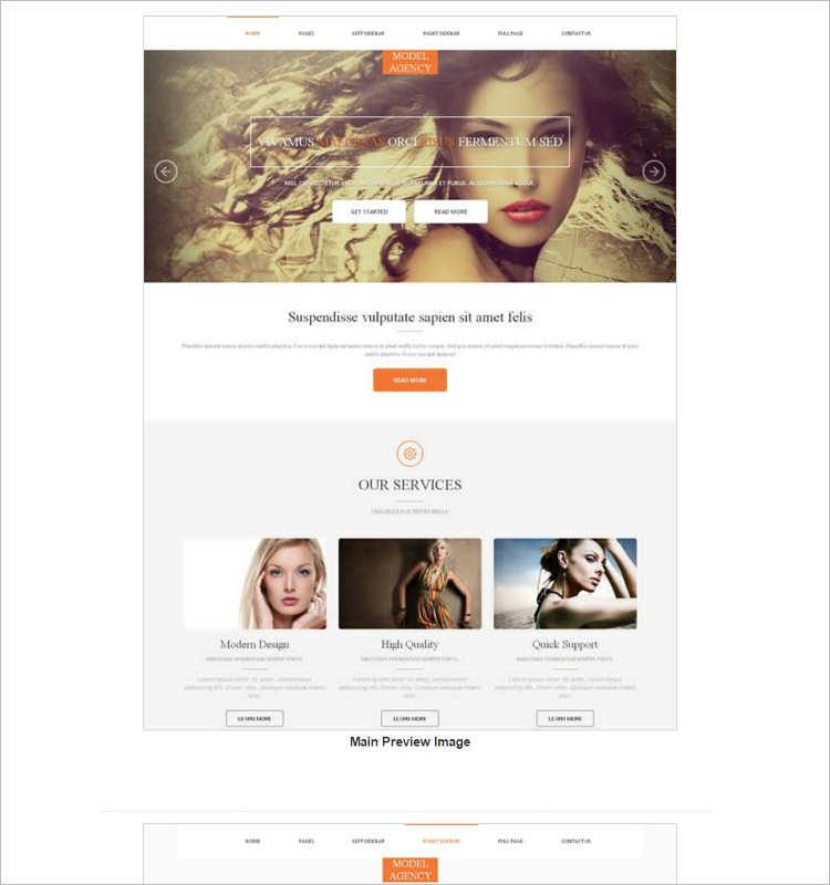 vector-model-agency-website-templates