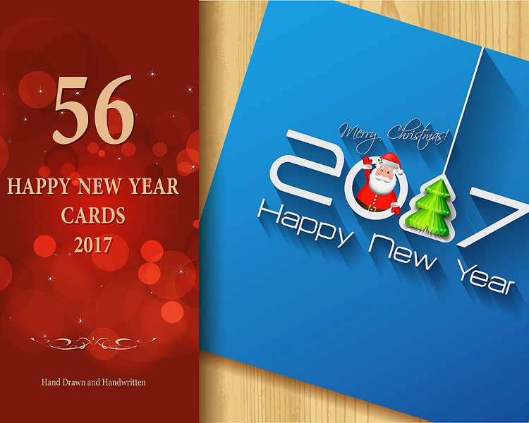 New Year Cards Template  BesikEightyCo
