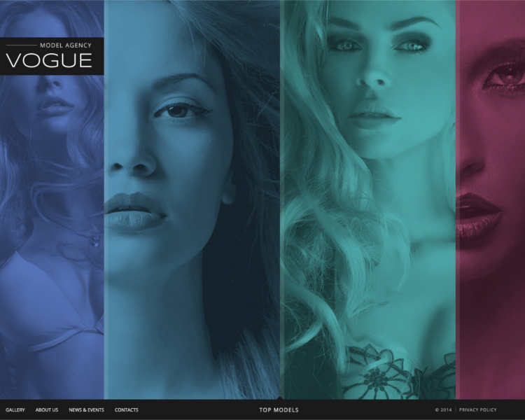 vogue-model-webiste-templates