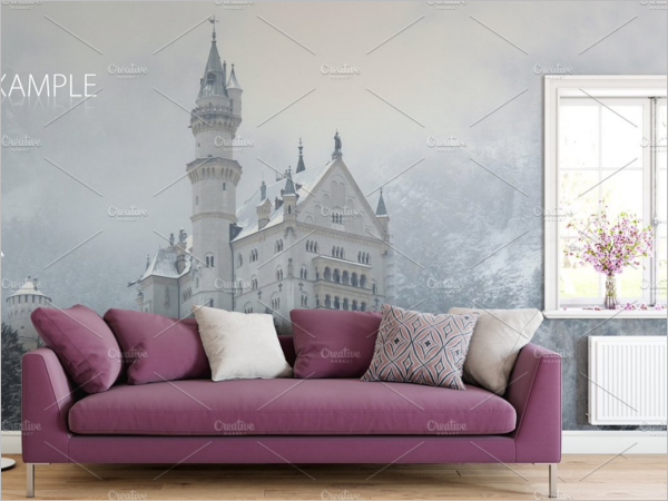 Wall Art Mockup Design Template