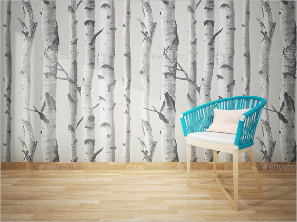 Wall Art Mockup Photoshop Design