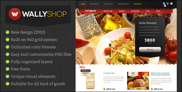 Wally Restaurant for OpenCart Theme
