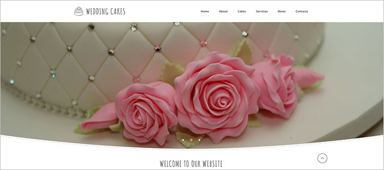 weeding-cake-website-theme-templates