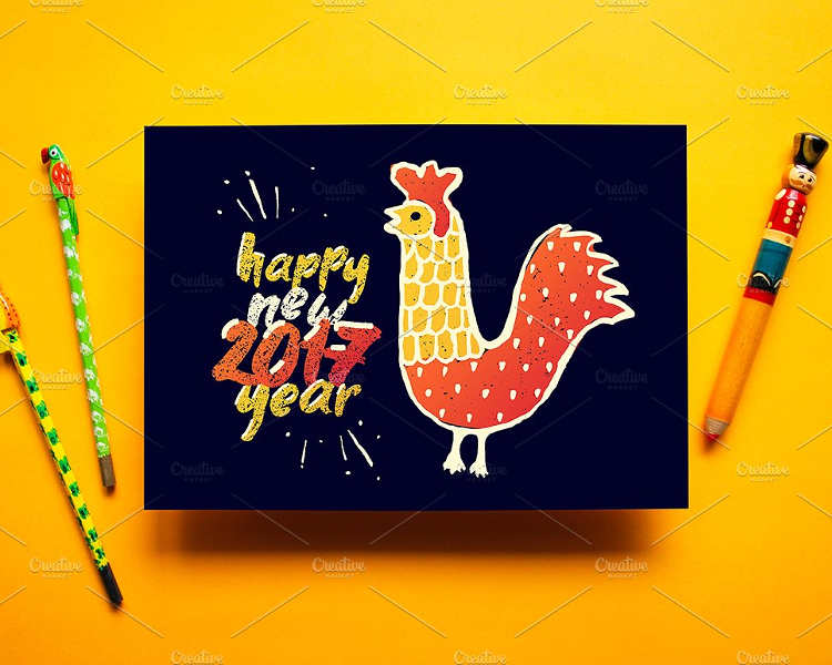 zodiac-new-year-greeting-card-templates