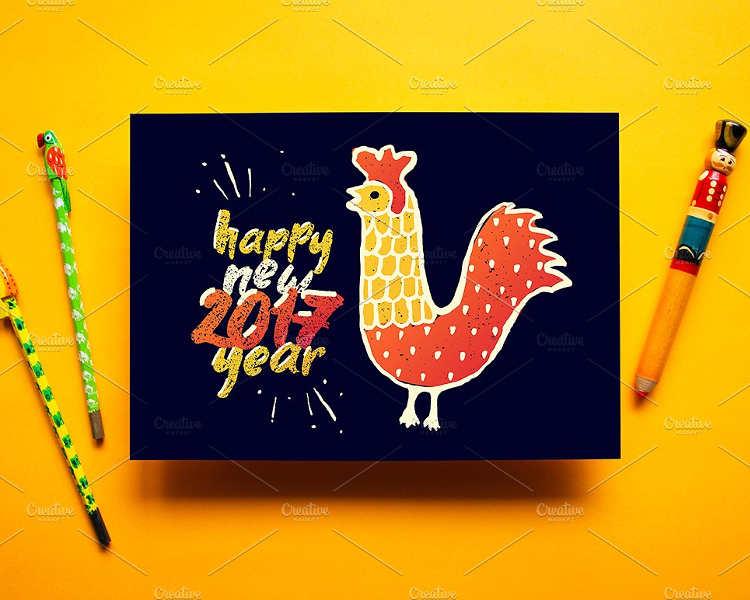 zodiac-new-year-greeting-card-templates