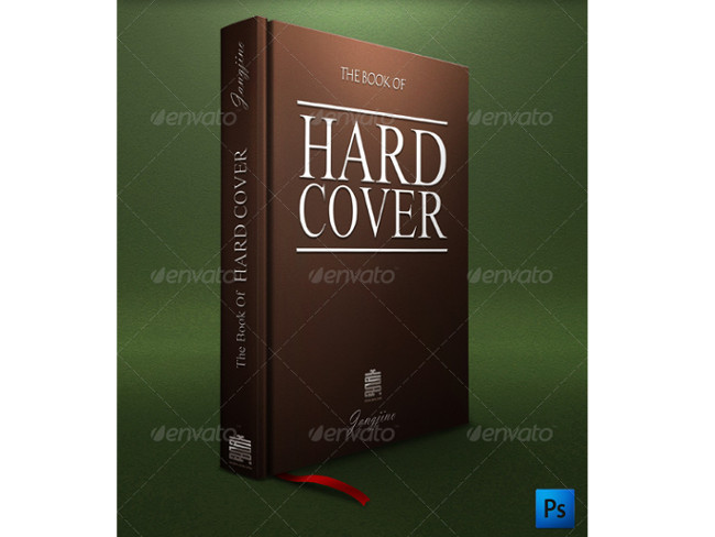 artistic book cover mockup