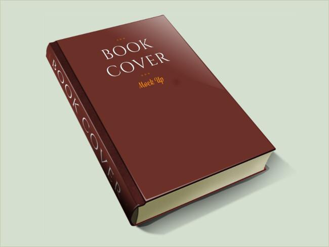 brownish book cover mockup