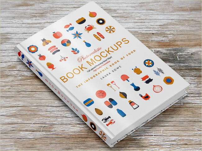 infographic book cover mockup
