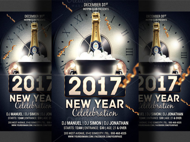 New Year Flyer Templates  Free  Premium Templates