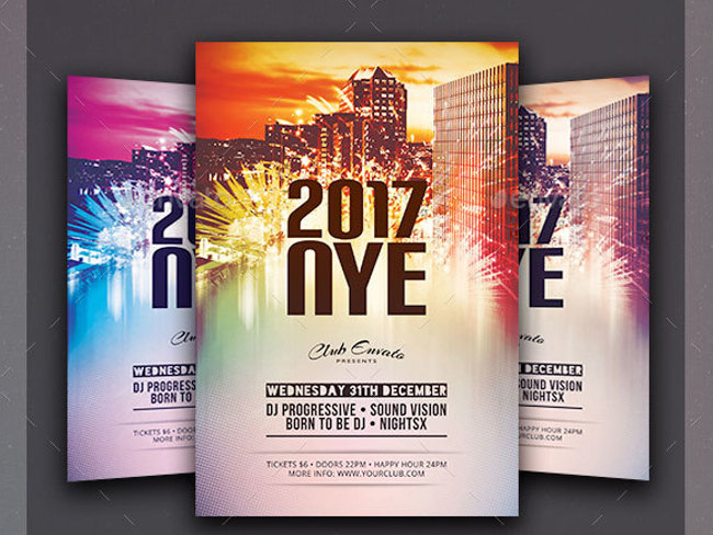 29 New Year Flyer Templates Free Premium Templates