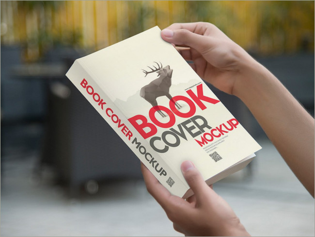 paper back book cover mockup