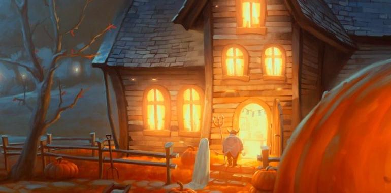 pumpkin-house-halowen-back-ground