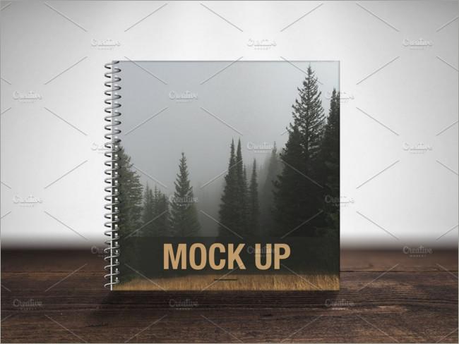 spiral book cover mockup