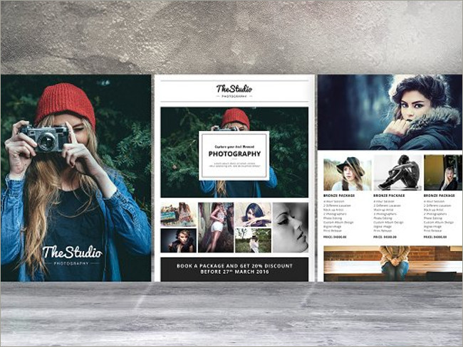 Photography Flyer Templates Free PSD Samples Creative Template - Photography brochure template free