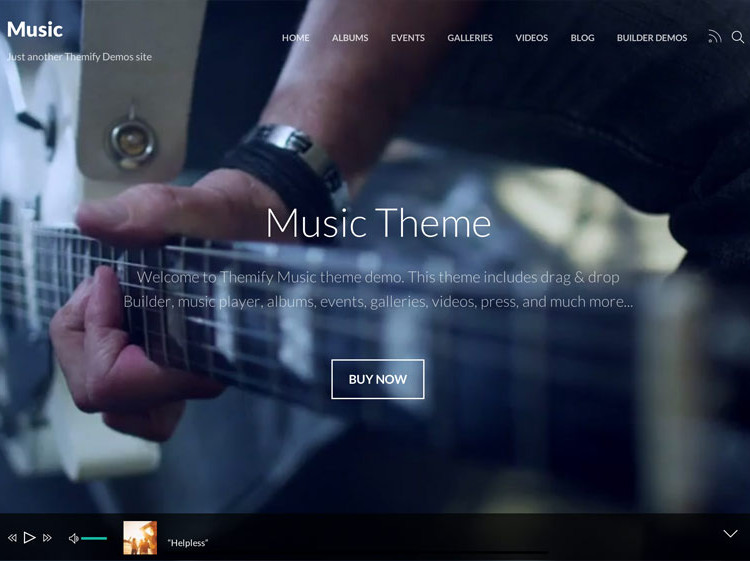 20+ Responsive Music WordPress Templates