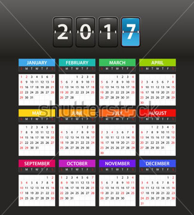 2017 New Calendar Mockups