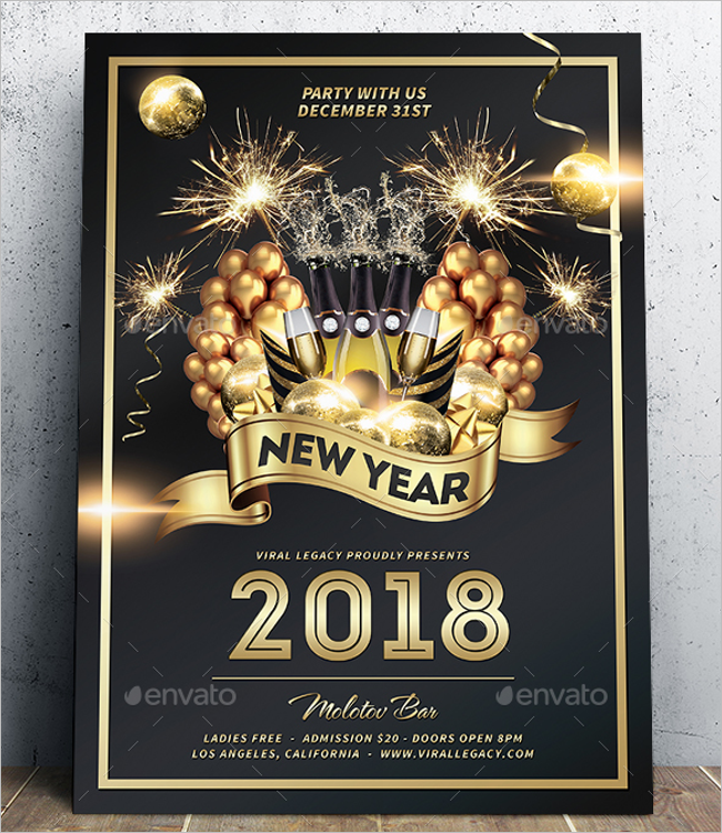 2018 New Year Poster Template