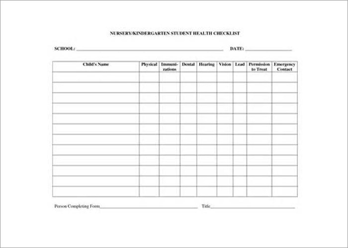 Student Health On Call Checklist Templates 4 Word Button. On Call Schedule  Templates