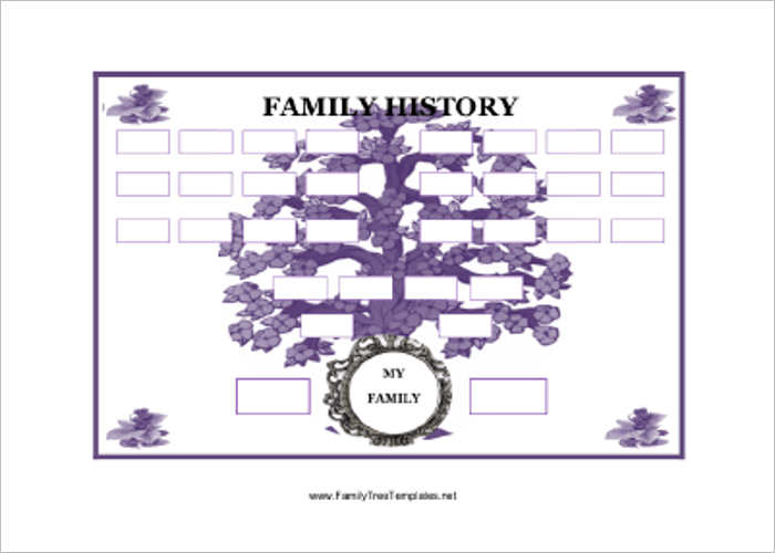 Family Tree Template Free Excel PDF Word Format – Family Tree Template in Word