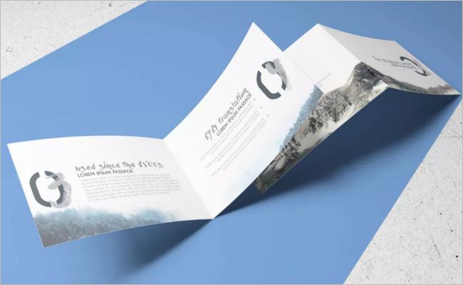 A5 Brochure Mockup Landscape Design