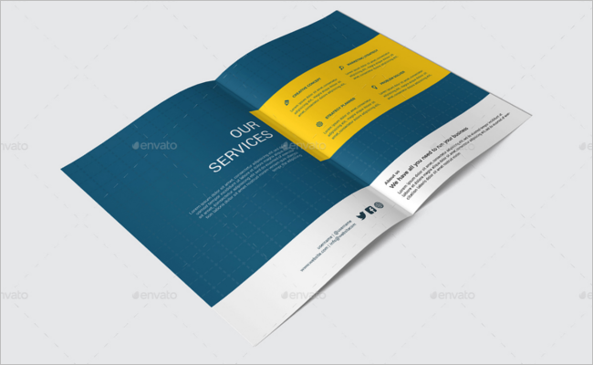 A5 Broucher Mockup Design Template