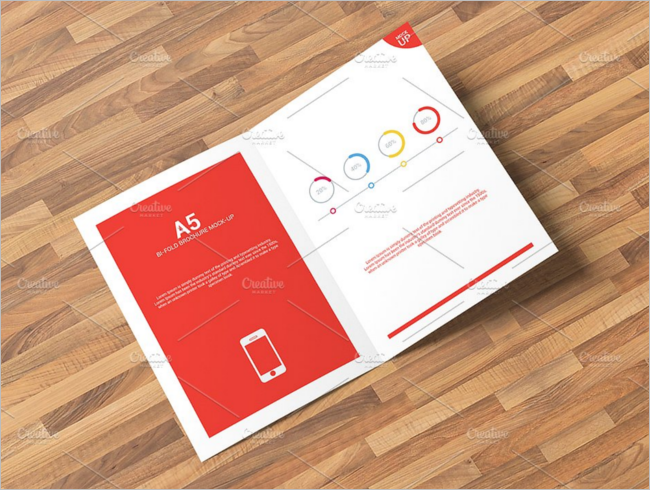 36 a5 brochure mockups psd free download creativetemplate for A5 landscape brochure template