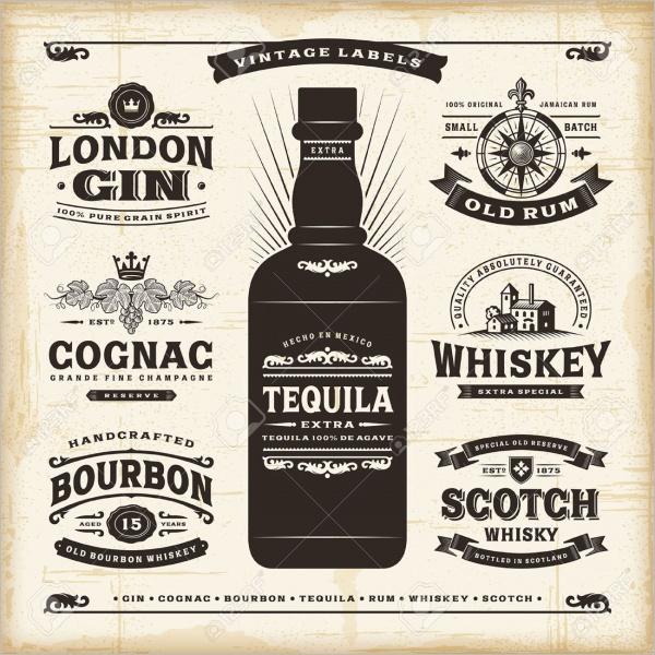 Alcohol Bottle Lable Design