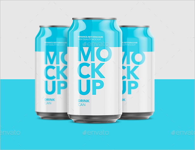 Aluminium Can Mockup Design