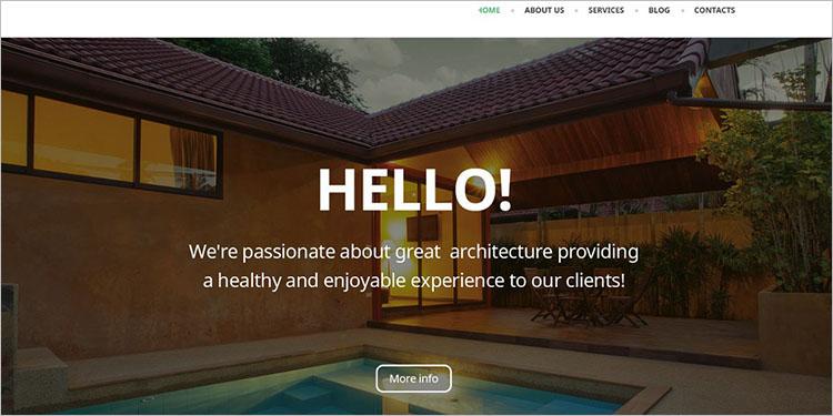 Architectural WordPress Theme Templates