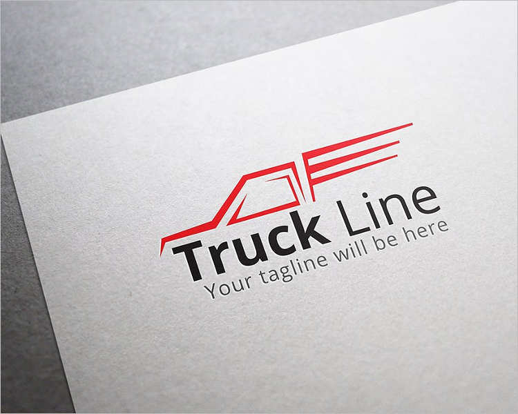 automobile-truck-line-logo-design