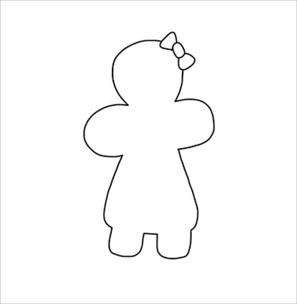 Baby Girl Body Outline Templates