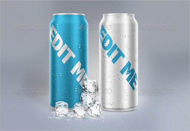 Beer Can Mockup Design