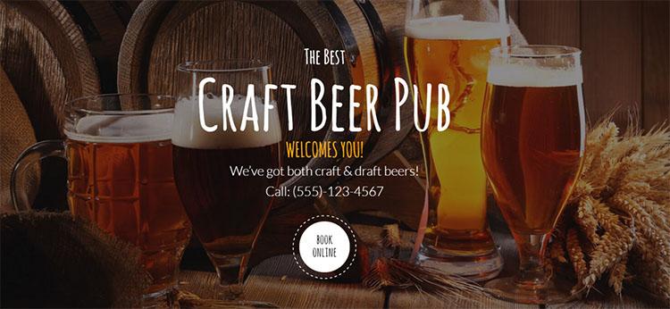 Beer Pub & Brewery WordPress Theme