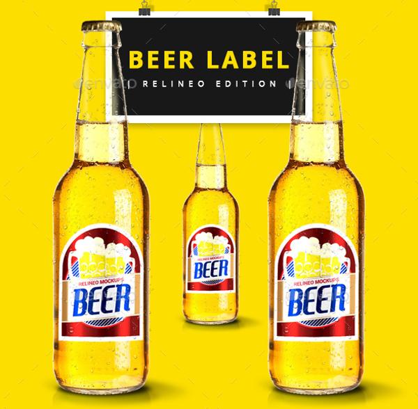 Beer bottle Lable Design