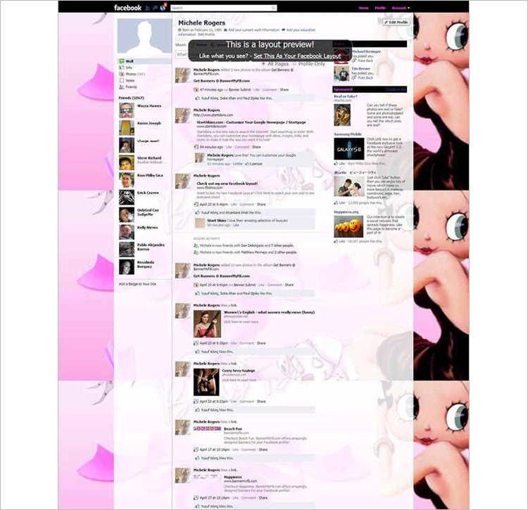 Betty Boop Facebook Template Design
