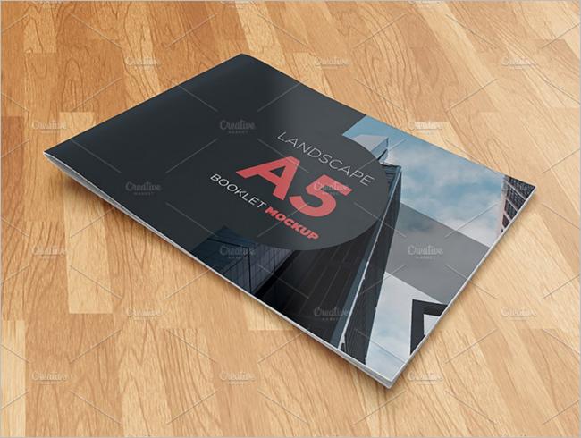 Bi-fold A5 Brochure Mockup Template