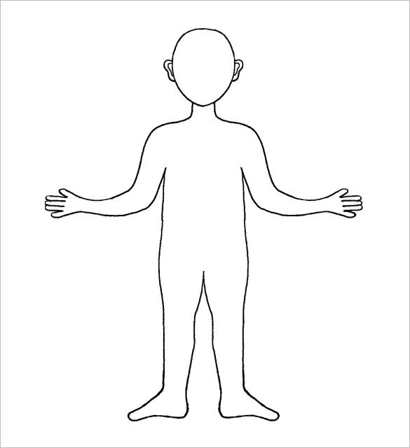 Blank Body Outline Template PDF
